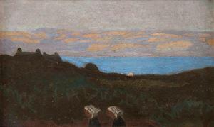 Effet de soir au bord de la mer by MAURICE DENIS contemporary artwork