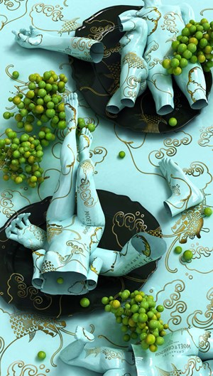 Moet Chandon by Kim Joon contemporary artwork