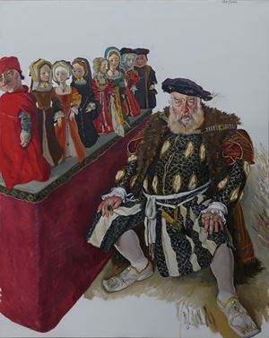 Old Man Plays The Role of Henry VIII by Chen Danqing contemporary artwork