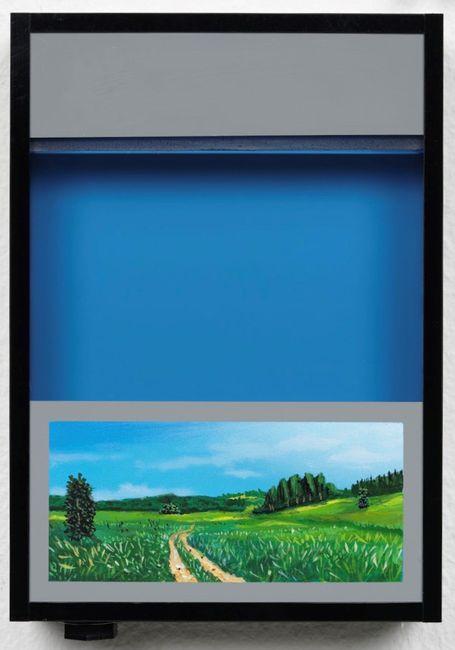 Pocket vacation box - Phthalocyanine Blue by Naoya Inose contemporary artwork