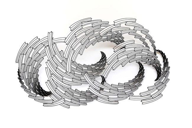 Black Cloud by Neil Dawson contemporary artwork