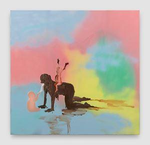 Shit Mom (Dream Riders) by Tala Madani contemporary artwork