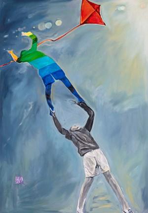 Up Up and Away 飛去 by Gu Fusheng contemporary artwork