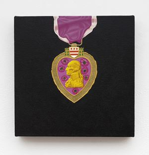 Purple Heart by Linda Stark contemporary artwork