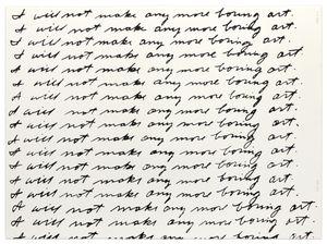 Not Baldessari (I will not make any more boring art, 1971) by Mike Bidlo contemporary artwork print