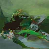 waves of green by Hollis Heichemer contemporary artwork painting