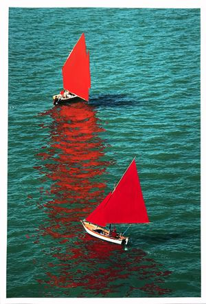 Red Regatta (Vela al Terzo) by Melissa McGill contemporary artwork