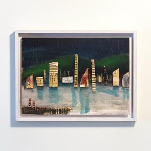 Nightscape With Architectural Things 2 by Paul Connor contemporary artwork