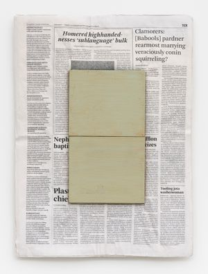 """""""Composition with Two Colours"""" by Mark Manders contemporary artwork"""