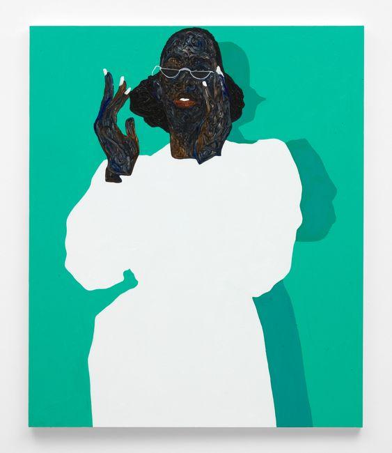 White Nail Polish by Amoako Boafo contemporary artwork