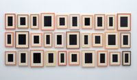Collection of Thirty Plaster Surrogates by Allan McCollum contemporary artwork painting, installation, mixed media, ceramics