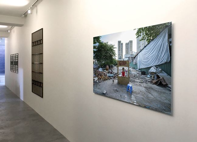 Exhibition view: Trong Gia Nguyen, This House Is Falling Upwards through a Hole in (do) China, La Patinoire Royale—galerie Valérie Bach, Brussels (26 April–8 June 2019). Courtesy La Patinoire Royale—Galerie Valérie Bach.