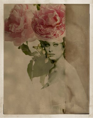 Portrait with Flowers by Giovanni Gastel contemporary artwork