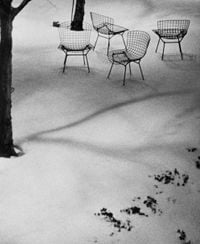 Wire Chairs in Snow, MoMA by André Kertész contemporary artwork photography