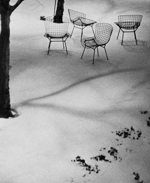 Wire Chairs in Snow, MoMA by André Kertész contemporary artwork