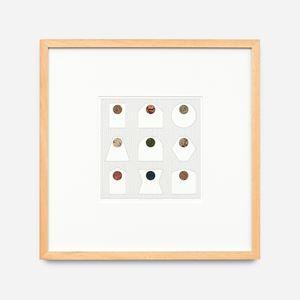 9 cercles, nov. 10 by Léon Wuidar contemporary artwork