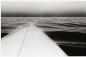 Surfboard with Setting Sun, Santa Monica, California, U.S.A. by Anthony Friedkin contemporary artwork