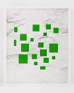 Handmade: Untitled Crumpled Paper Green Squares by Vik Muniz contemporary artwork