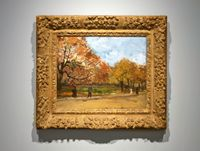 View of a Park in Paris by Vincent van Gogh contemporary artwork painting
