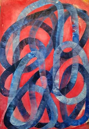 Deep Blue by Ildiko Kovacs contemporary artwork
