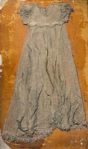 Baptismal Dress Collograh Plate by Marina Cruz contemporary artwork