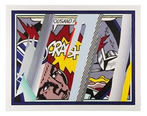 Reflections on Crash by Roy Lichtenstein contemporary artwork