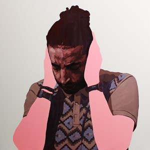 Sometimes we cover our ears so we can't hear by Abdul Abdullah contemporary artwork