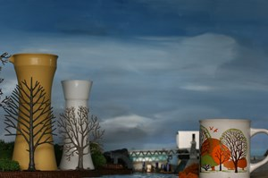 Water Cooling Towers (autumn) by Elaine Campaner contemporary artwork