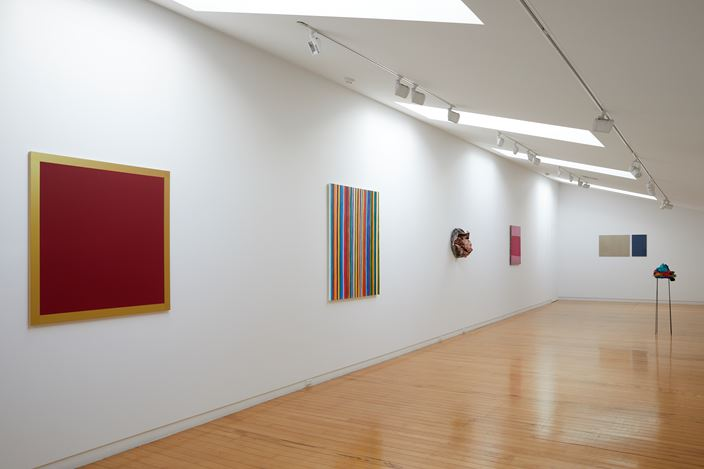 Exhibition view: WestFarbe: Paint vs Colour,Two Rooms, Auckland (31 January–29 February 2020). Courtesy Two Rooms.