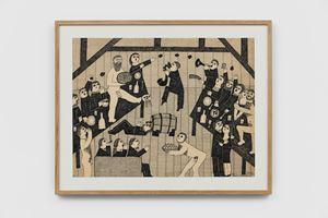 Fête du Rougevin à l'atelier [Rougevin festival at the studio] by Véronique Filozof contemporary artwork