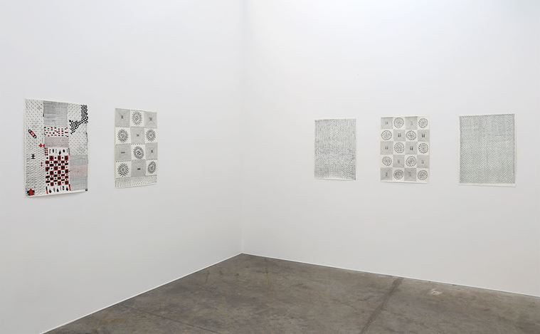 Exhibition view: John Pule, A time like no other, Jonathan Smart Gallery, Christchurch (21 April–23 May 2020). Courtesy Jonathan Smart Gallery.