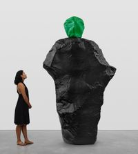 green black monk by Ugo Rondinone contemporary artwork sculpture