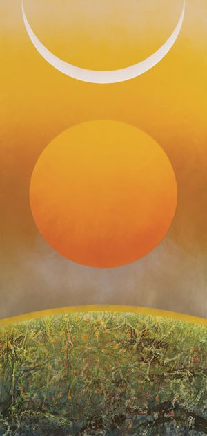 Sun Moon Glory 《日月爭輝》 by Liu Guosong contemporary artwork