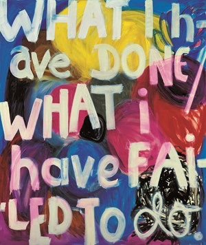 What I have done… by Angela Brennan contemporary artwork