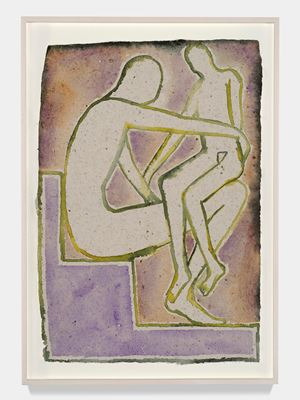 Notturno Indiano III by Francesco Clemente contemporary artwork