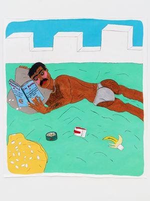 Bedwork / The New Man reading Ibn Battûta by Soufiane Ababri contemporary artwork