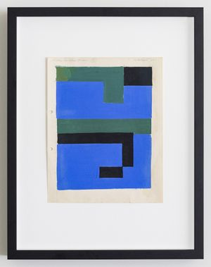 Study for Blue/Green by Gordon Walters contemporary artwork
