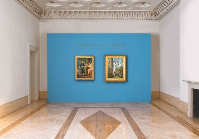 Exhibition view:Andrea Appiani, ENVISIONING AN EMPIRE:NAPOLEON AND JOSEPHINE REUNITED AFTER 200 YEARS, Robilant+Voena, London (20 May–27 June 2021). Courtesy Robilant+Voena.