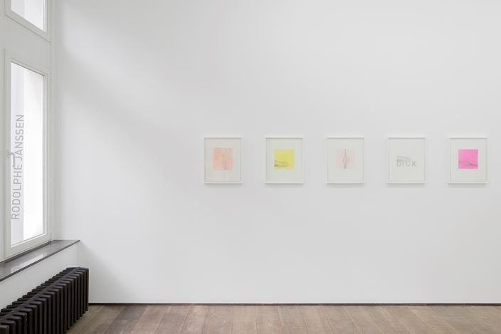 Exhibition view:Betty Tompkins, rodolphe janssen, Brussels (18 January–17 March 2018). Courtesy the artist and rodolphe janssen, Brussels.Photo: Hugard & Vanoverschelde photography.