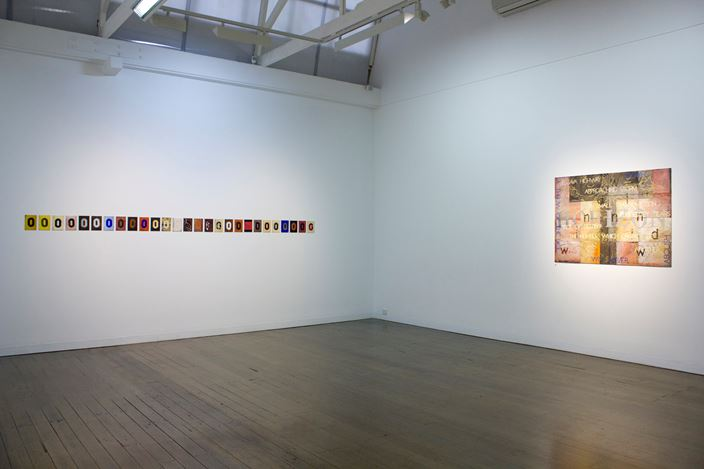 Exhibition view: Imants Tillers, Joy Knows No Mercy, Arc One Gallery (4 September–6 October 2018). Courtesy Arc One Gallery.