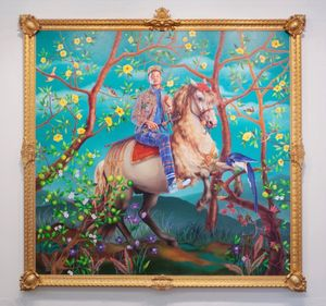 Equestrian Portrait of Philip III by Kehinde Wiley contemporary artwork