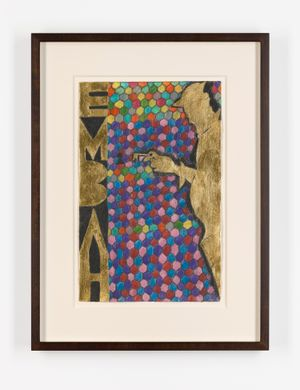 Embah 4 by Chris Ofili contemporary artwork painting, works on paper, drawing