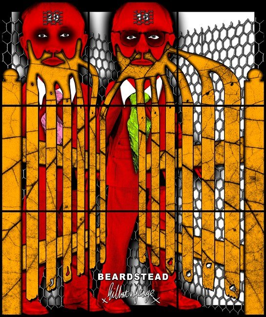 BEARDSTEAD by Gilbert & George contemporary artwork