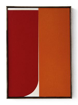 Red / Orange #1 by Johnny Abrahams contemporary artwork