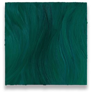 Untitled (Turquoise blue deep / Caribbean blue) by Jason Martin contemporary artwork painting