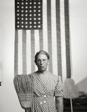 Gordon Parks/ American Gothic, Washington, D.C. (1942) by Sandro Miller contemporary artwork