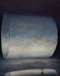 Cement Pipes 水泥桶 by Lu Liang contemporary artwork painting