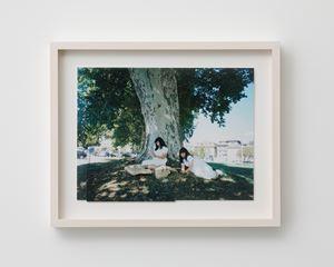 reading under the tree/vevey/switzerland/2018 by fumiko imano contemporary artwork