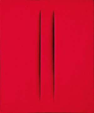 Concetto spaziale, Attese by Lucio Fontana contemporary artwork