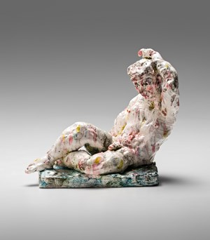 Statue (reclining) by Stephen Benwell contemporary artwork